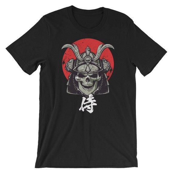 Samurai Skull Japanese Samurai Kanji Tex Samurai Gift Samurai Warrior S Shirts