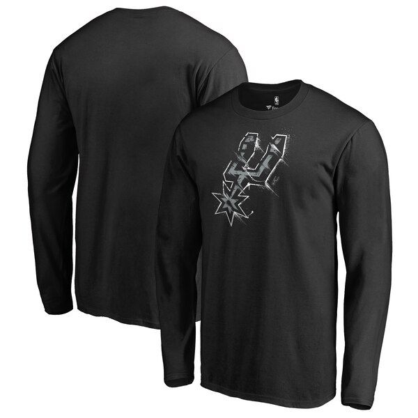 San Antonio Spurs Fanatics Branded Splatter Logo Black Shirts