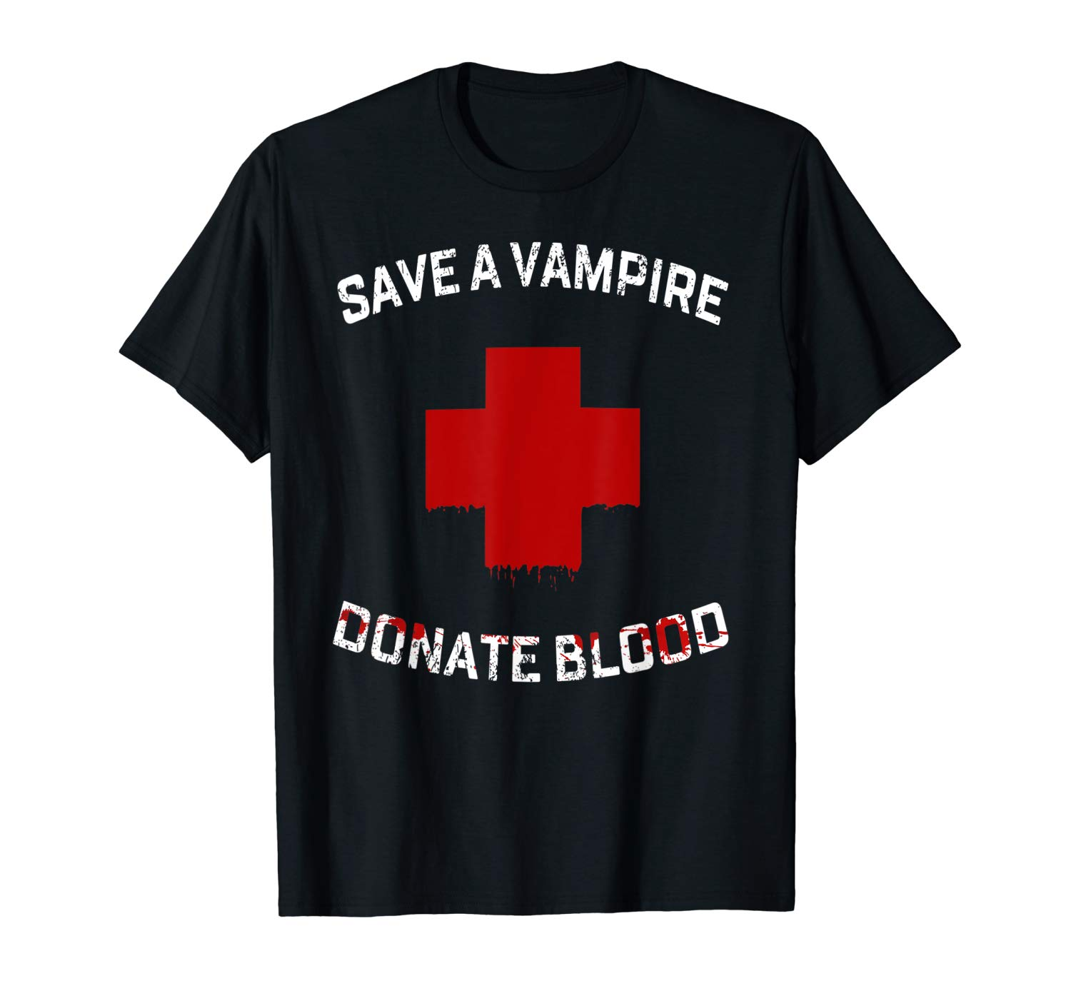 Save A Vampire Donate Blood Funny Halloween T Shirt