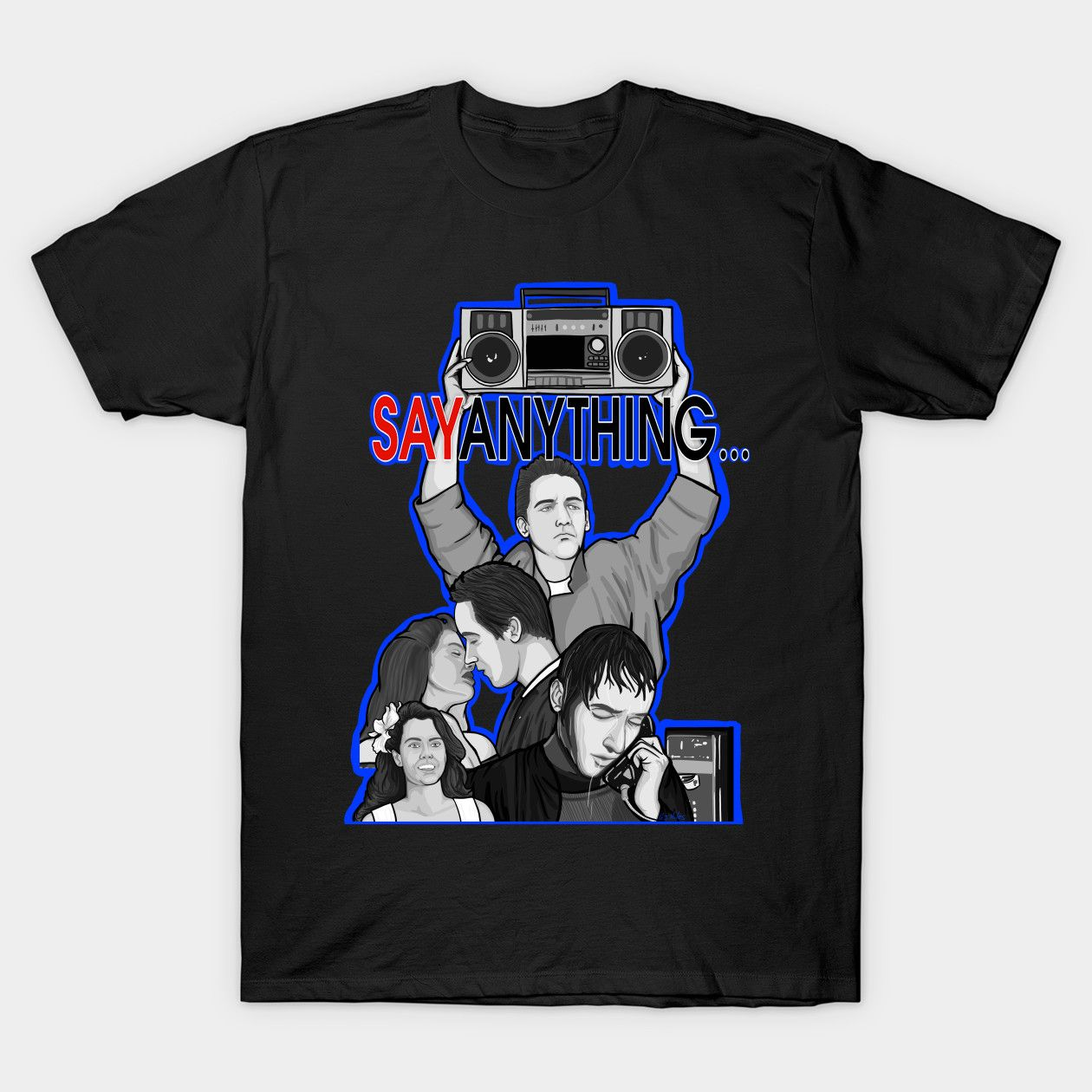 Say Anything Movie Collage Art Eighties Classic Shirts
