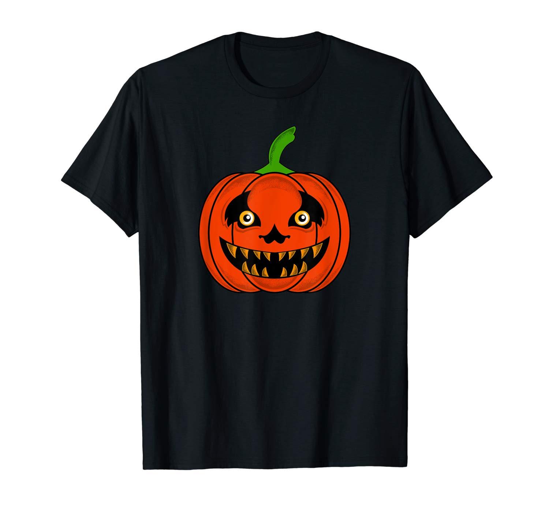 Scary Halloween Pumpkin Cute Jack O Lantern Gift T Shirt