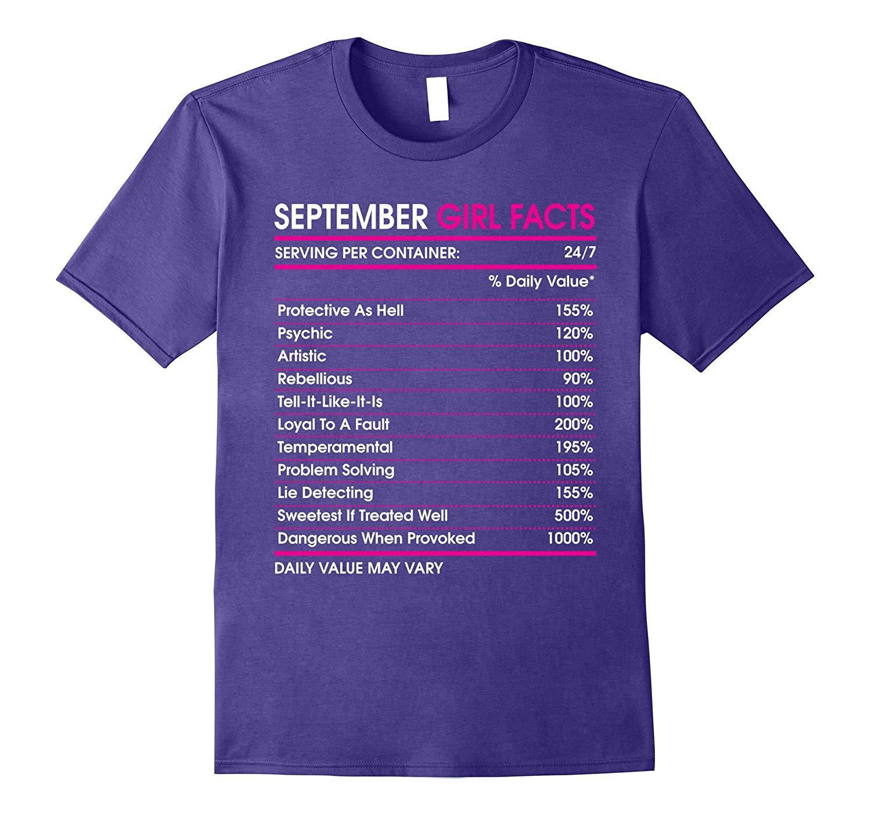 September Girl Facts T Shirt Virgo Zodiac Sign