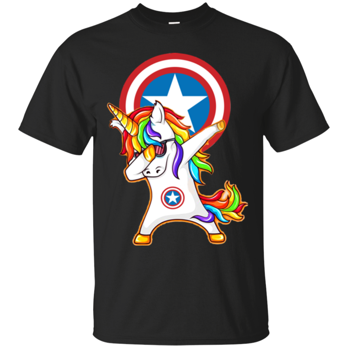 Shop From 1000 Unique Dabbing Unicorn Loves Captain America T Shirt Sweater