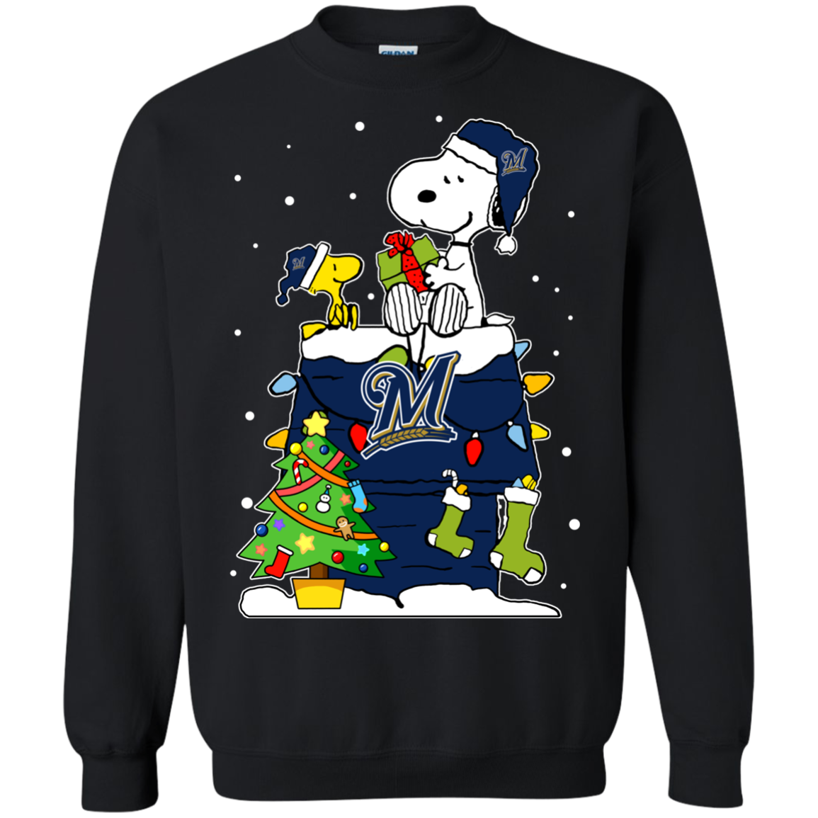 Shop From 1000 Unique Milwaukee Brewers Snoopy Ugly Christmas Sweaters Shirts