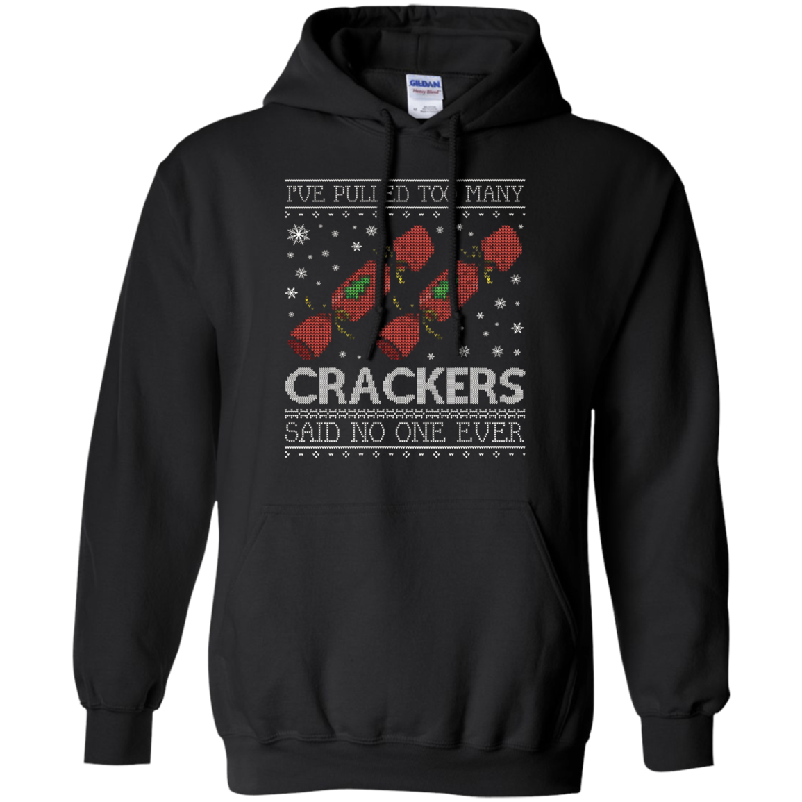 Shop Fun Too Many Crackers T Shirt Funny Christmas Sweater Cm