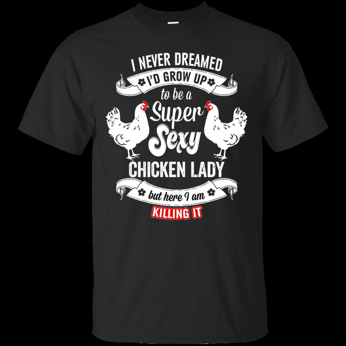 Shop Super Sexy Chicken Lady T Shirt Sweater