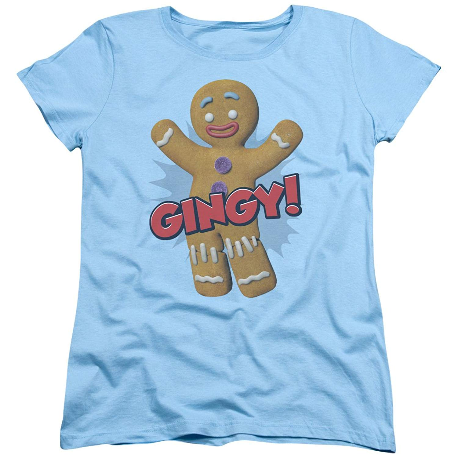 Shrek Animated Childrens Comedy Movie Gingy Gingerbread Man T Shirt