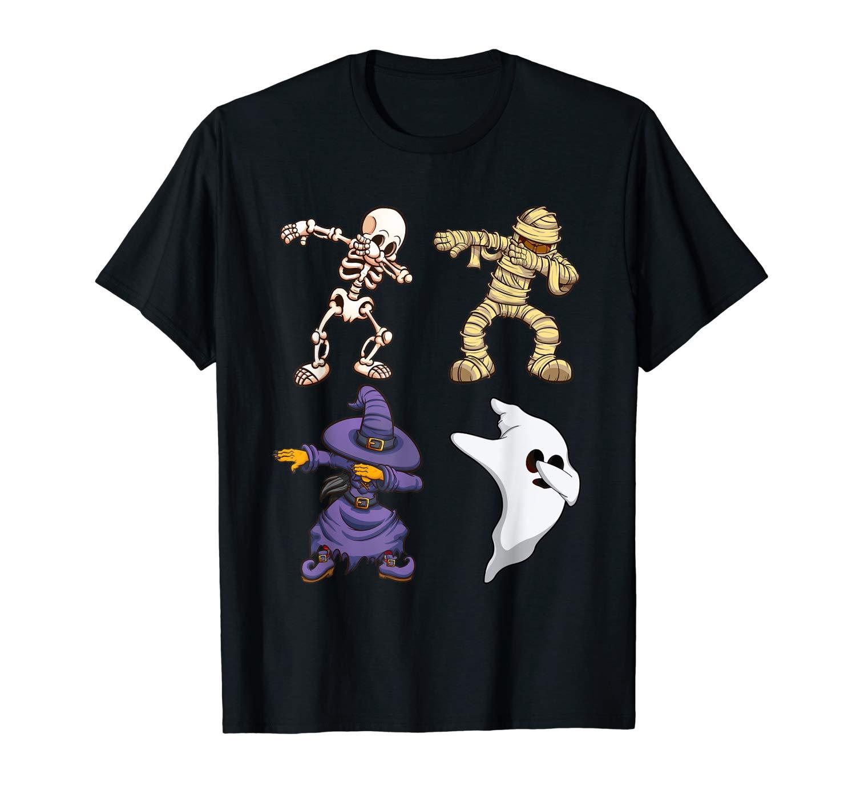 Skeleton Halloween Dabbing Squad Horror Shirt For Gifts