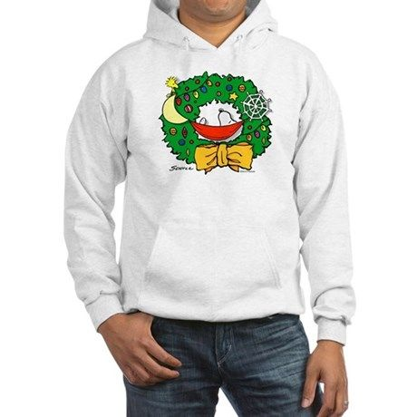 Snoopy Christmas Wreath Hooded Shirts
