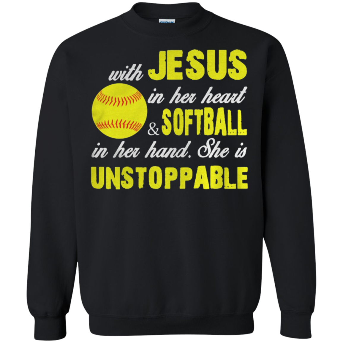 Softball With Jesus In Her Heart And Softball In Her Hand Shirt