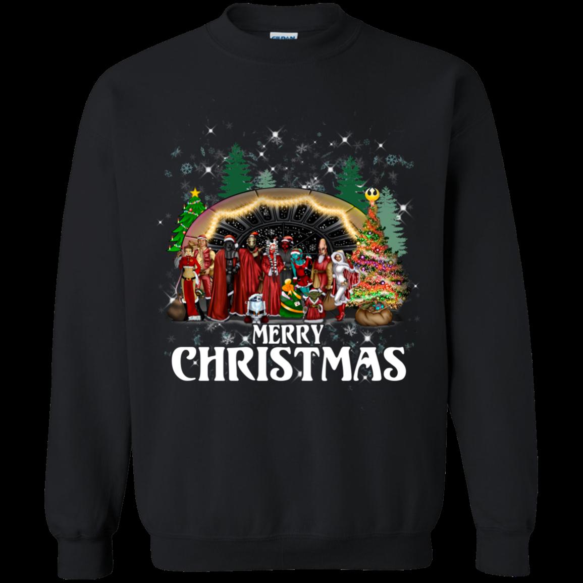 Star Wars Christmas Ugly Sweater Merry Christmas S S Shirts