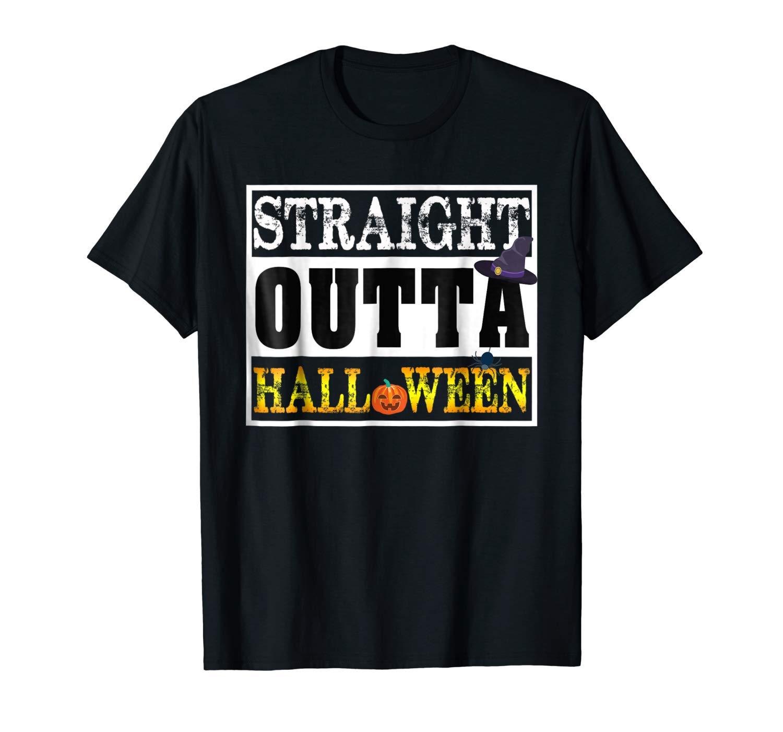 Straight Outta Halloween Pumpkin T Shirt