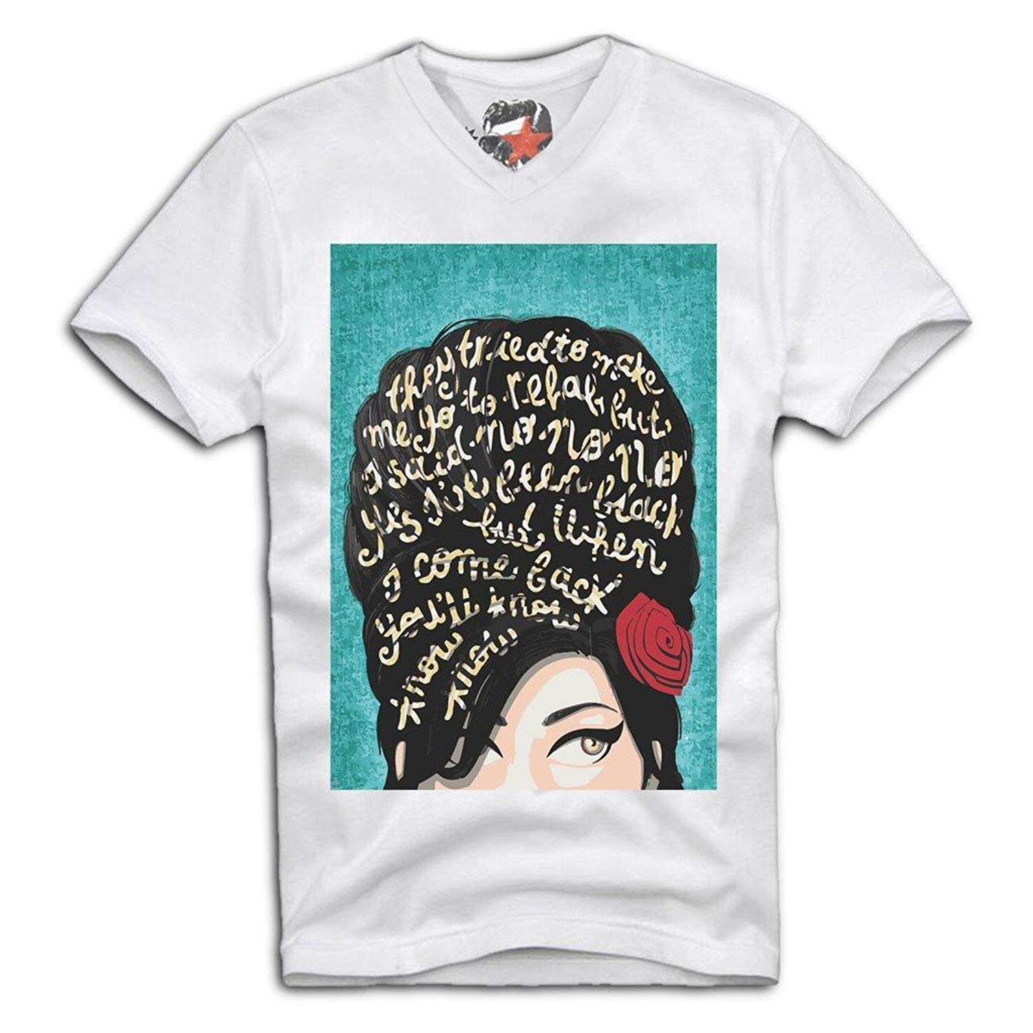 T Shirt Amy Winehouse Icon Tattoo Club 27 Wasted Sz S