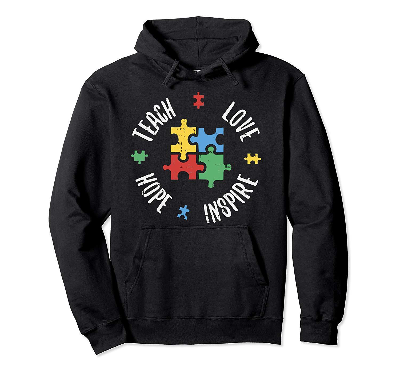 Teach Love Hope Inspire Autism Awareness Teacher Gift Shirts