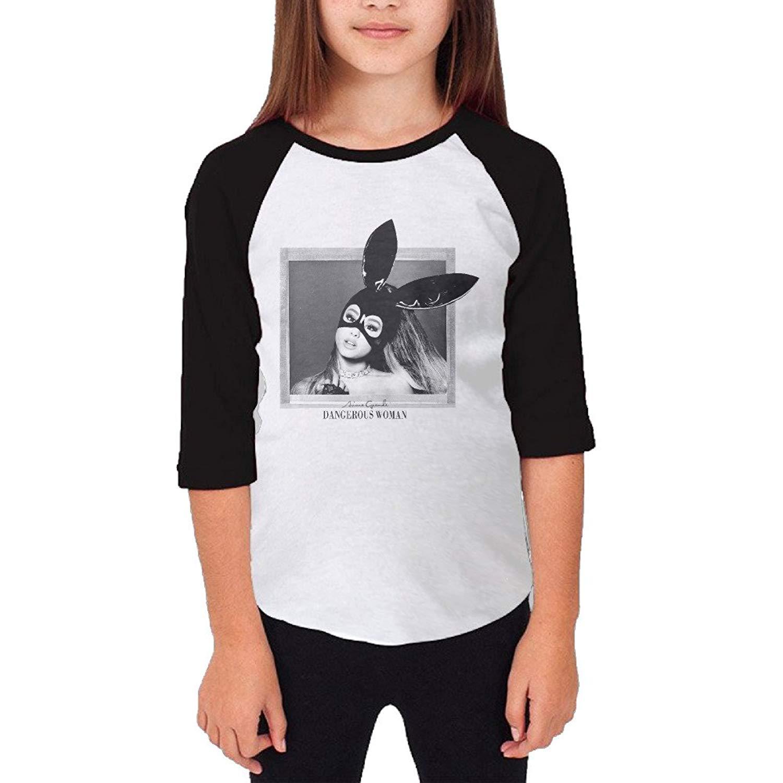 Teen Ariana Grande Dangerous Woman Baseball Raglan T Shirts