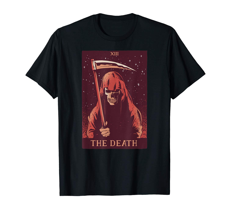 The Death Tarot Card Xiii Halloween Meme Gift 13 Reading T Shirt