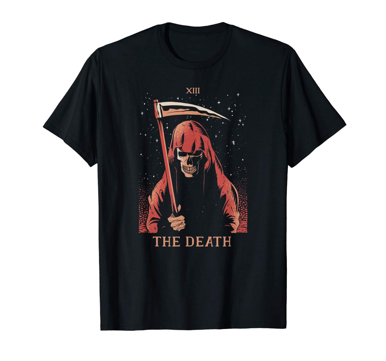 The Death Tarot Card Xiii Halloween Meme Gift 13 Transform T Shirt