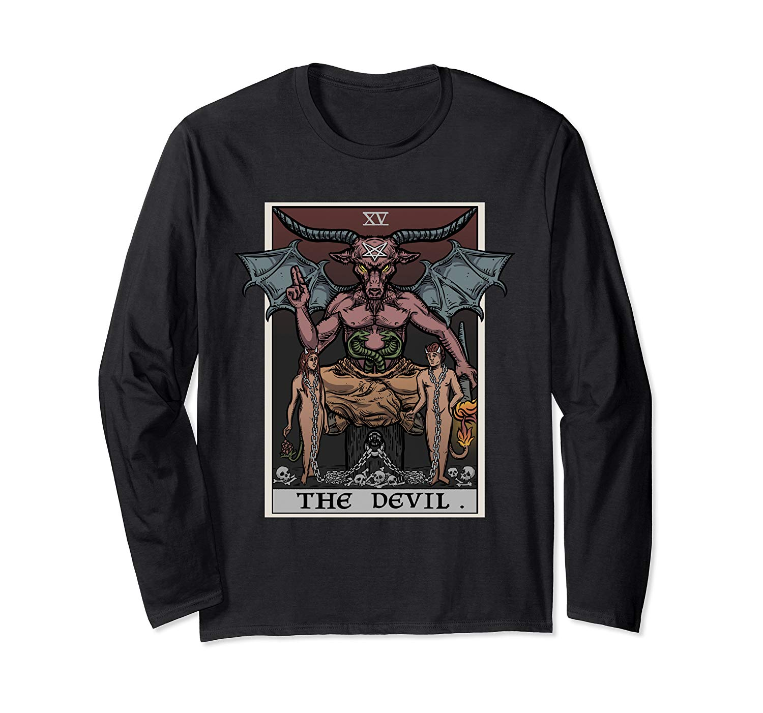 The Devil Tarot Card Shirt Satanic Witch Gift Gothic Clothes T Shirt