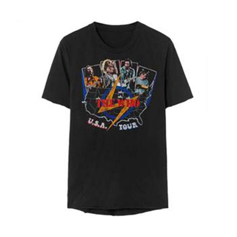 The Who Usa Tour Vintage Adult Unisex T Shirt