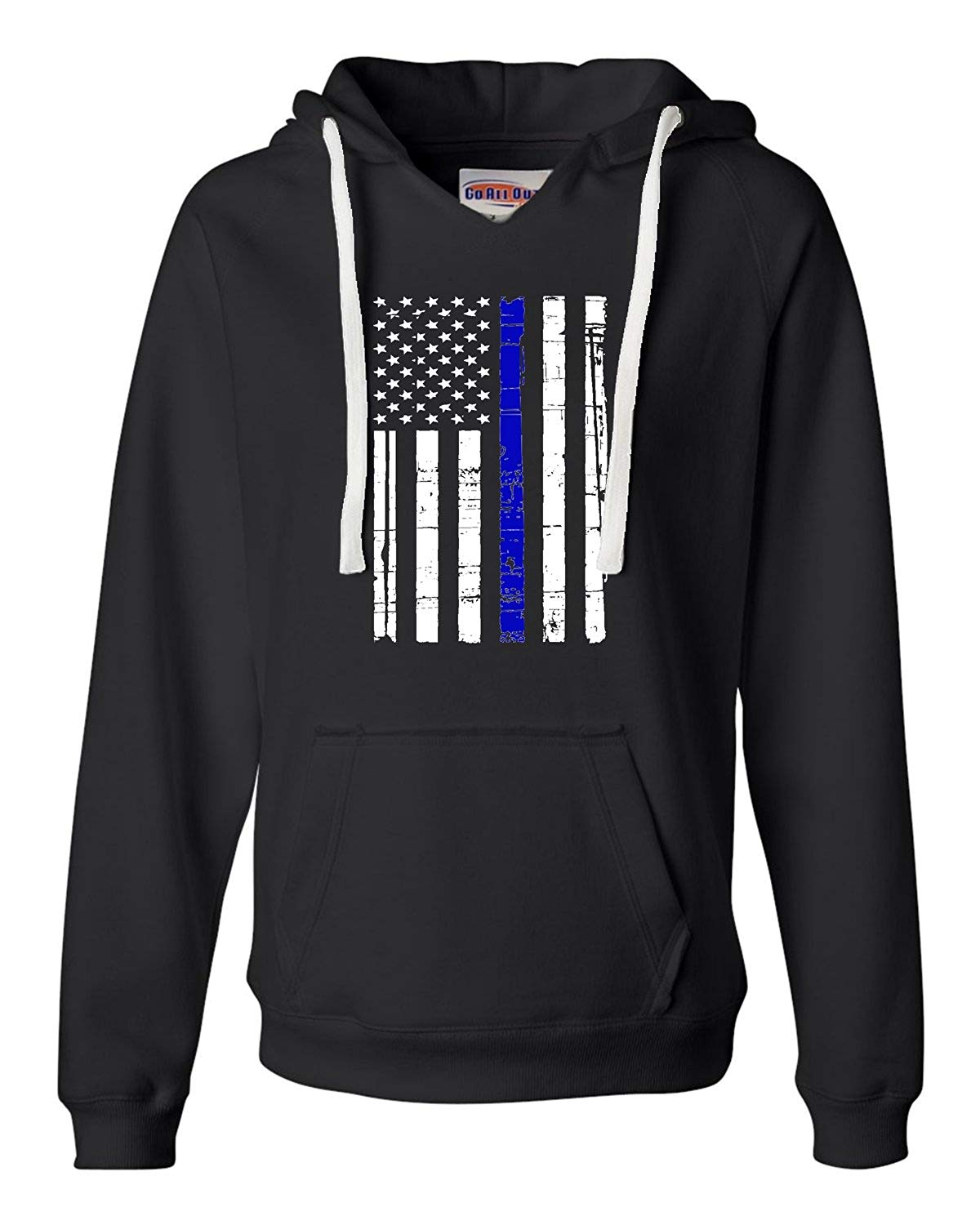 Thin Blue Line Distressed American Flag Deluxe Soft Shirts