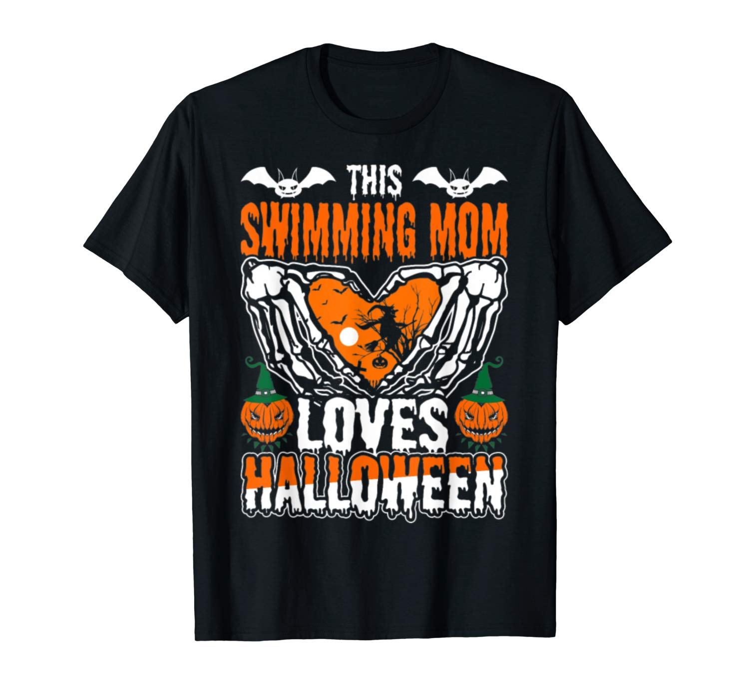 This Swimming Mom Loves Halloween T Shirt