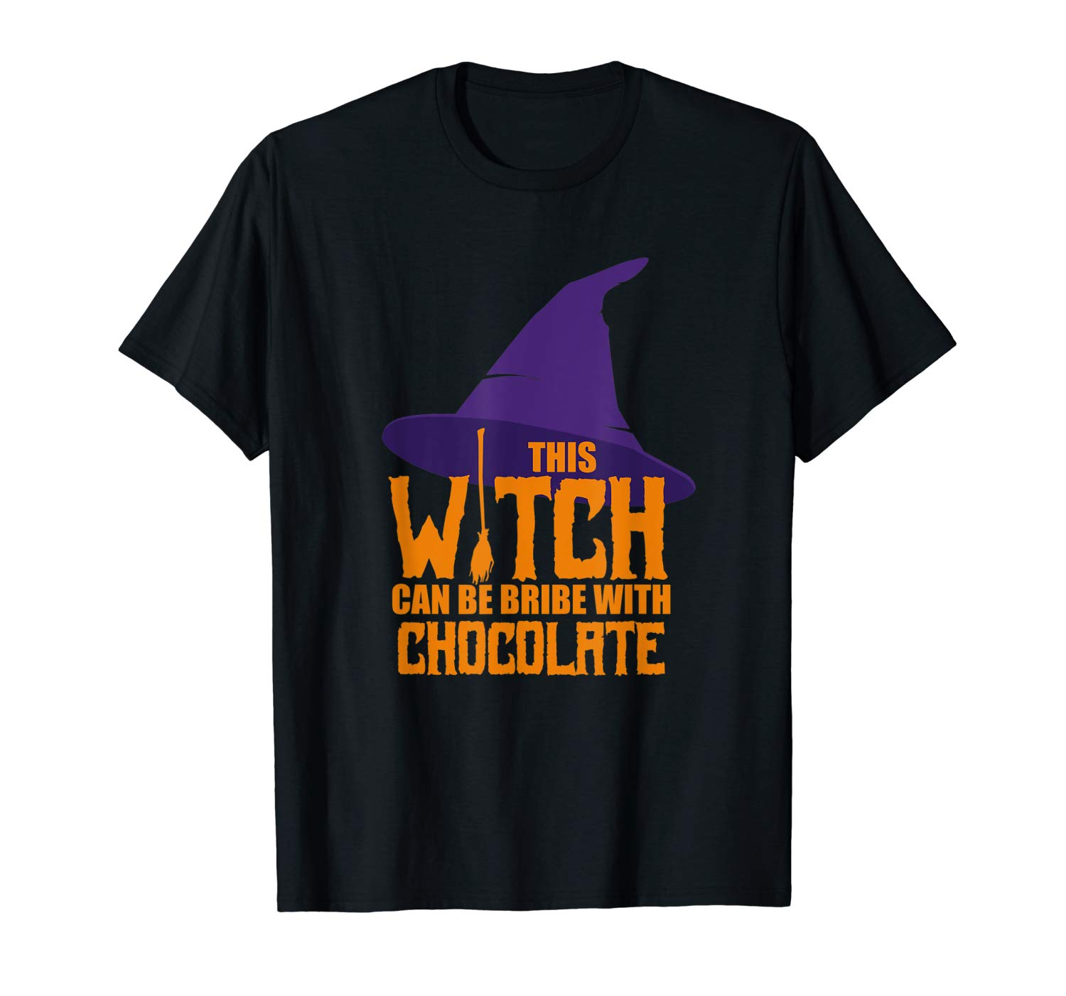 This Witch Can Be Bribe With Chocolate Halloween T Shirt