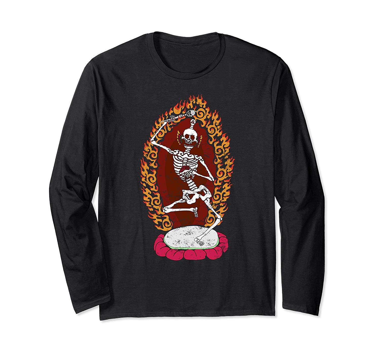 Tibetan Dancing Skeleton T Shirt