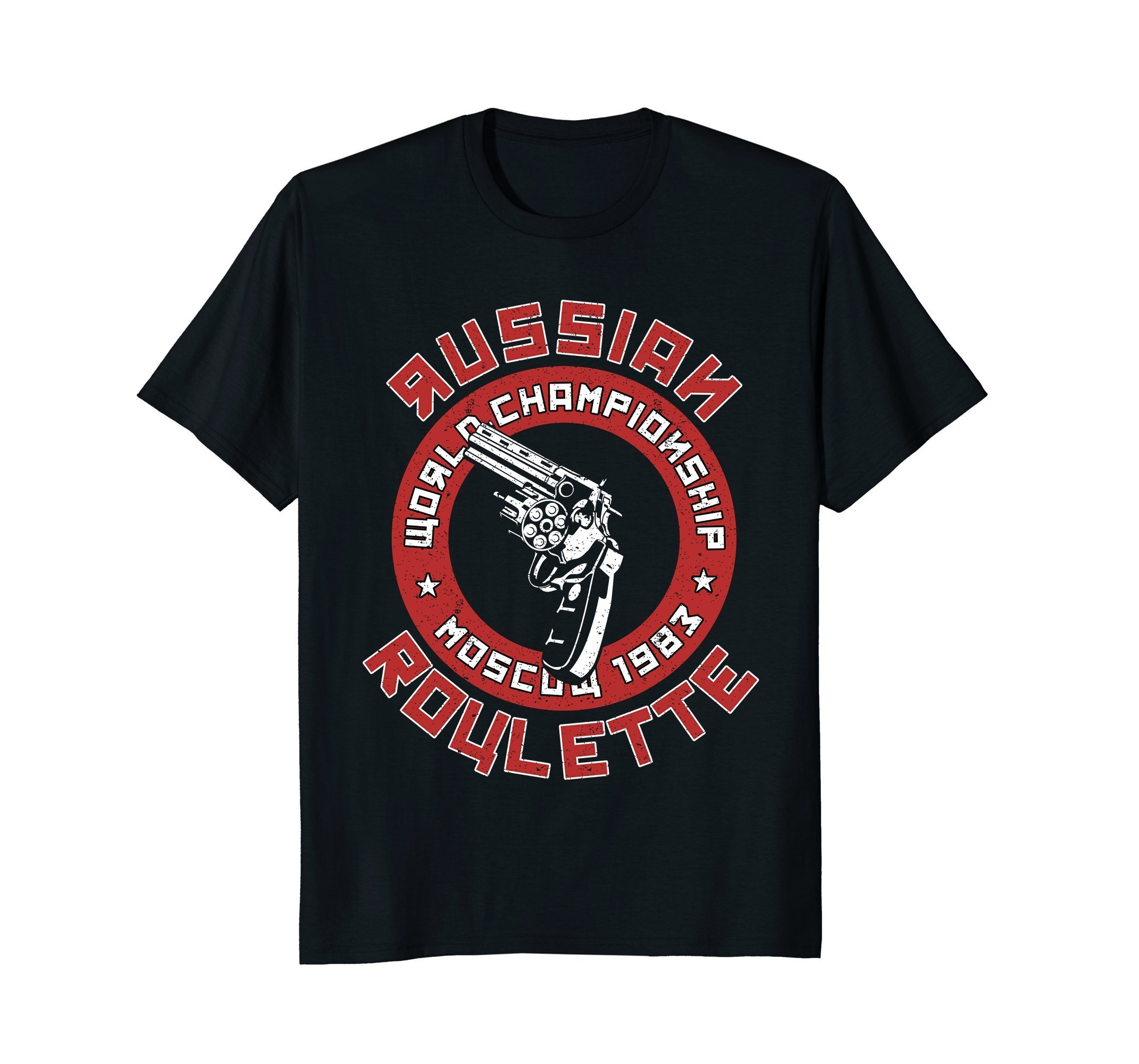 Russian Roulette Funny T Shirt