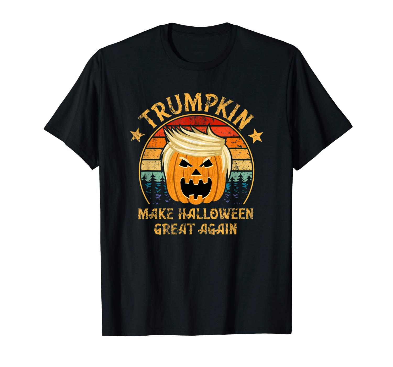 Trumpkin Make Halloween Great Again Vintage Retro T Shirt