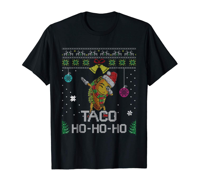 Ugly Sweater Dab Taco Santa T Shirt Christmas Girls Gifts