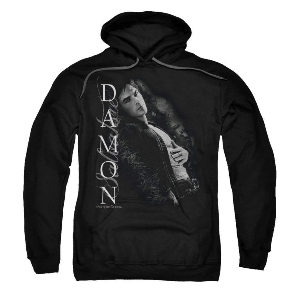 Vampire Diaries Supernatural Drama Tv Show Damon Salvatore Adult Pullover Shirts