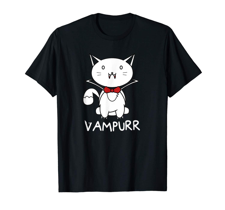 Vampurr Cute Cartoon Vampire Cat Shirt
