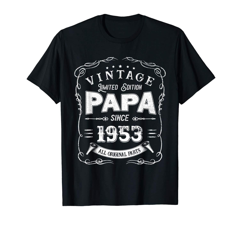 Vintage 66th Birthday Papa Gift Since 1953 Dad T Shirt