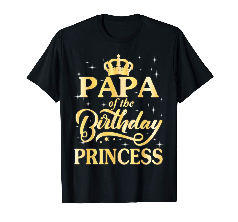 Vintage Crown Papa Of The Birthday Princess Dad Shirt