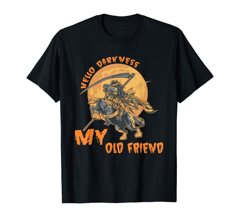 Vintage Hello Darkness My Old Friend Happy Halloween Gift T Shirt