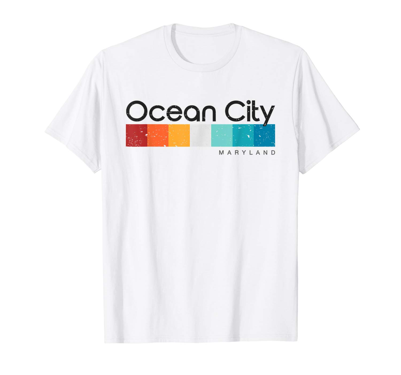 Vintage Ocean City Maryland Retro Design T Shirt