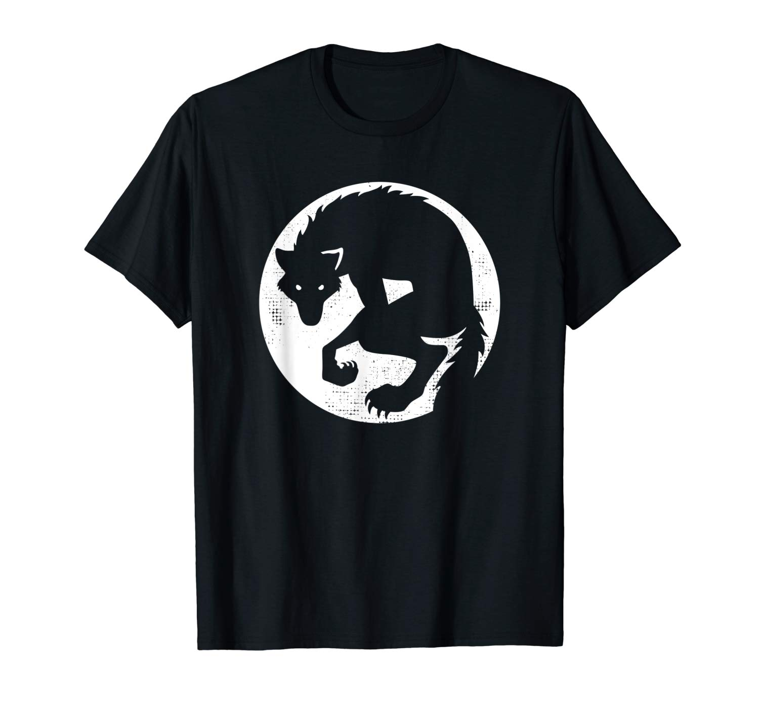 Werewolf T Shirt Silhouetted In Front Of The Moon
