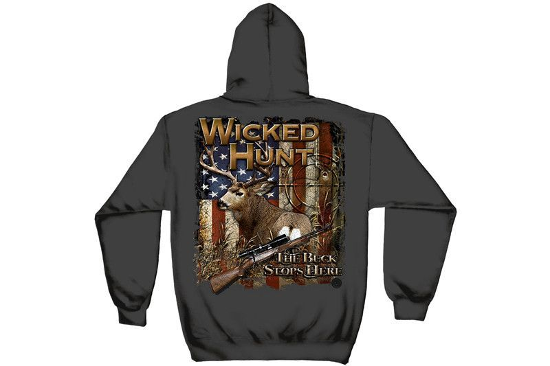 Buck Stop Here Hooded From Mustang Loot Shirts