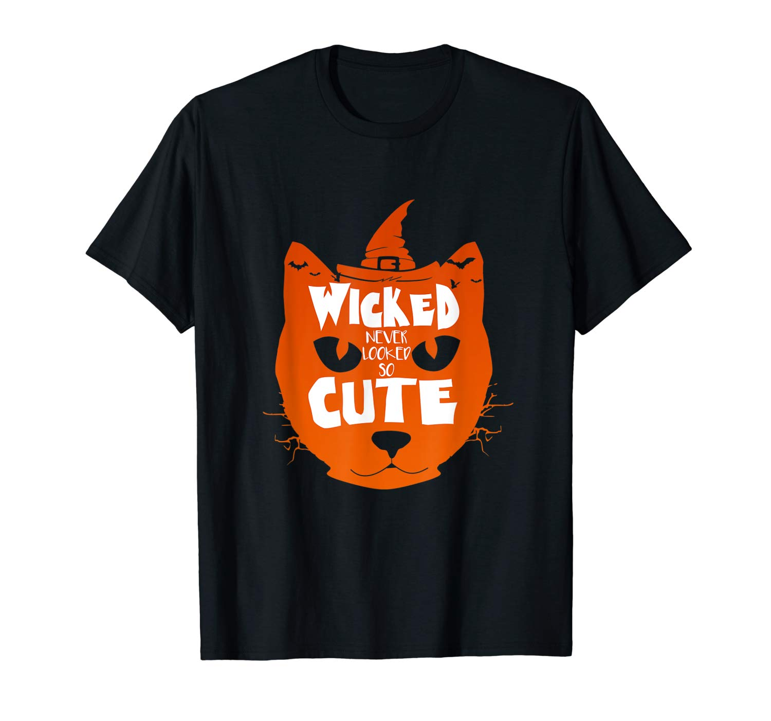 Wicked Never Looked So Cute T Shirt Halloween Cat