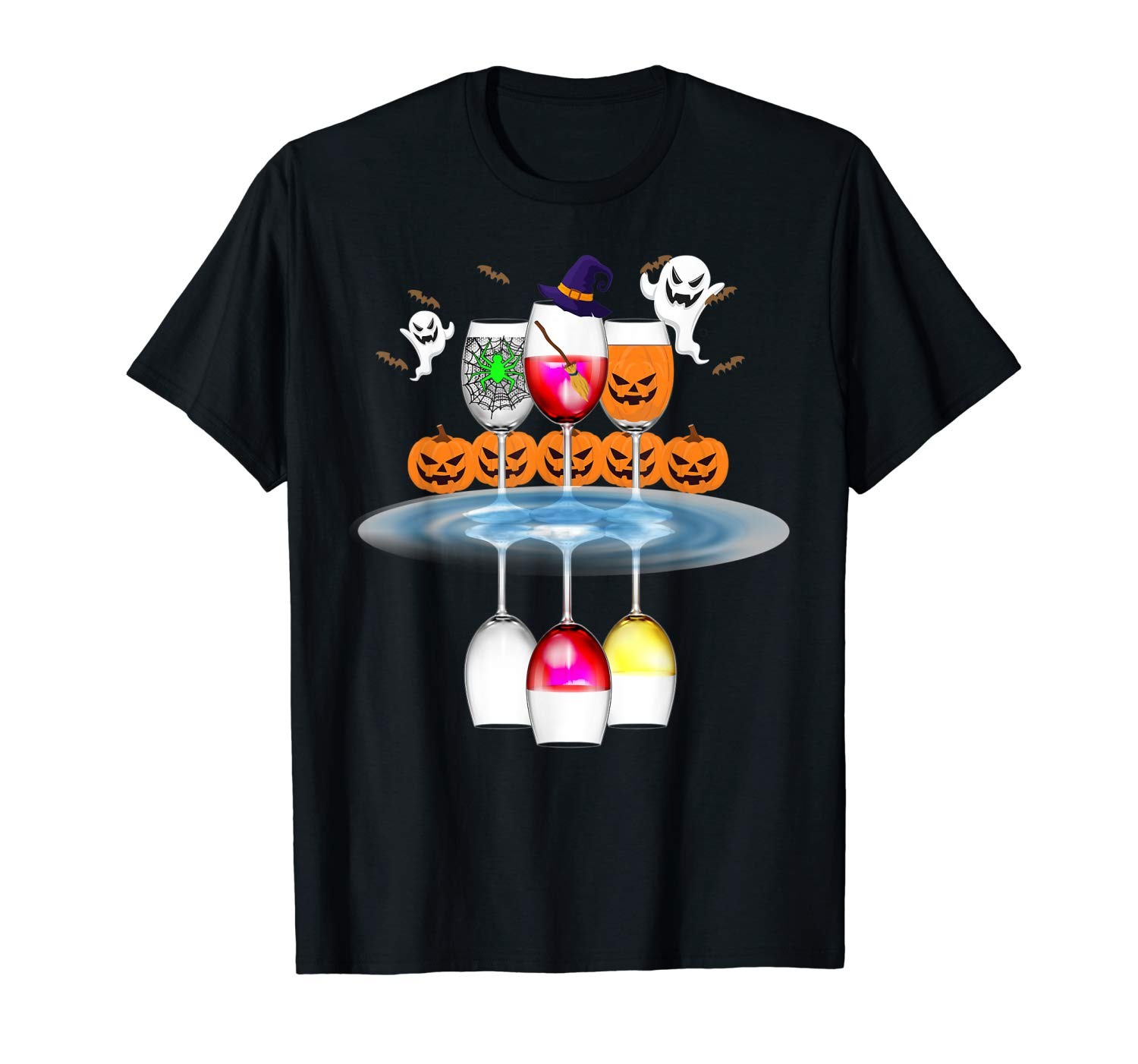 Wine Glass Of Witchcraft Halloween Shirt Funny