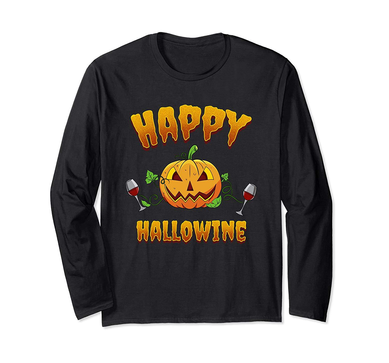 Wine Lovers Halloween Pumpkin Drinking Trick Or Treating Pun T Shirt