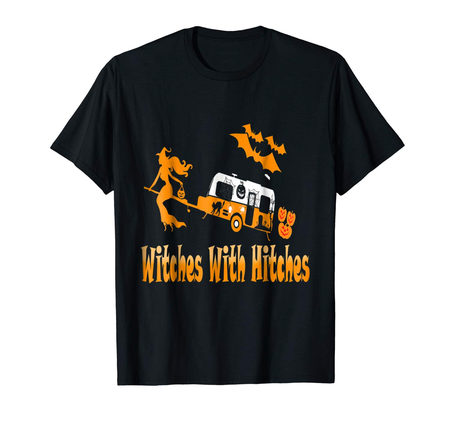 Witches With Hitches Camping Funny Halloween T Shirt