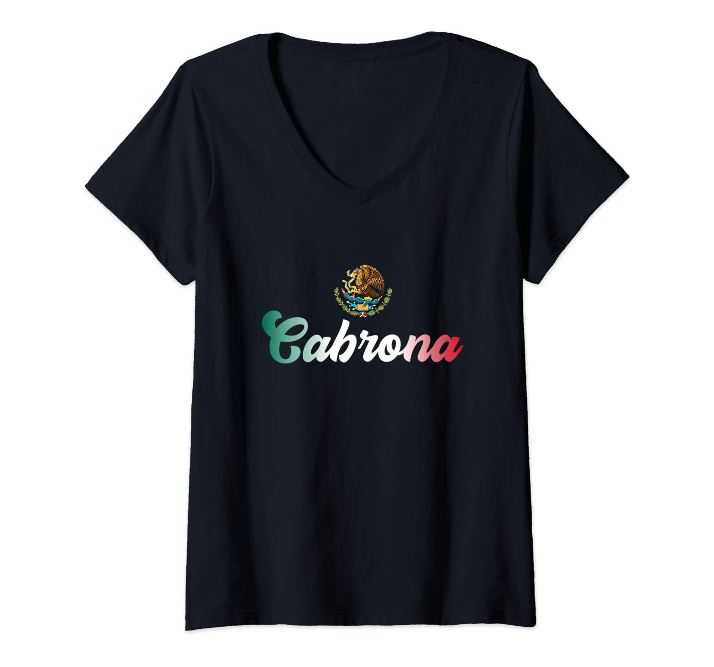 Cabrona Latina Mexico Flag Chingona Mexicana Latin T Shirt