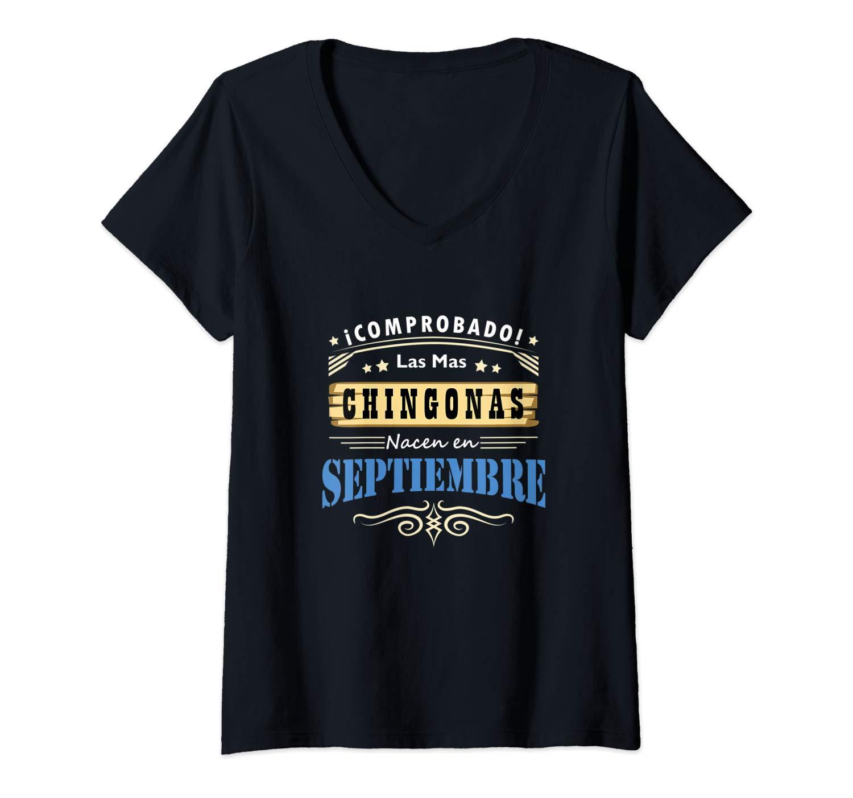 Camisa De Mujer Cumpleanos Las Chingonas Nacen En Septiembre T Shirt