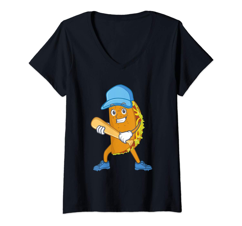 Funny Baseball Apparel For Taco Lovers Baseball And Tacos T Shirt