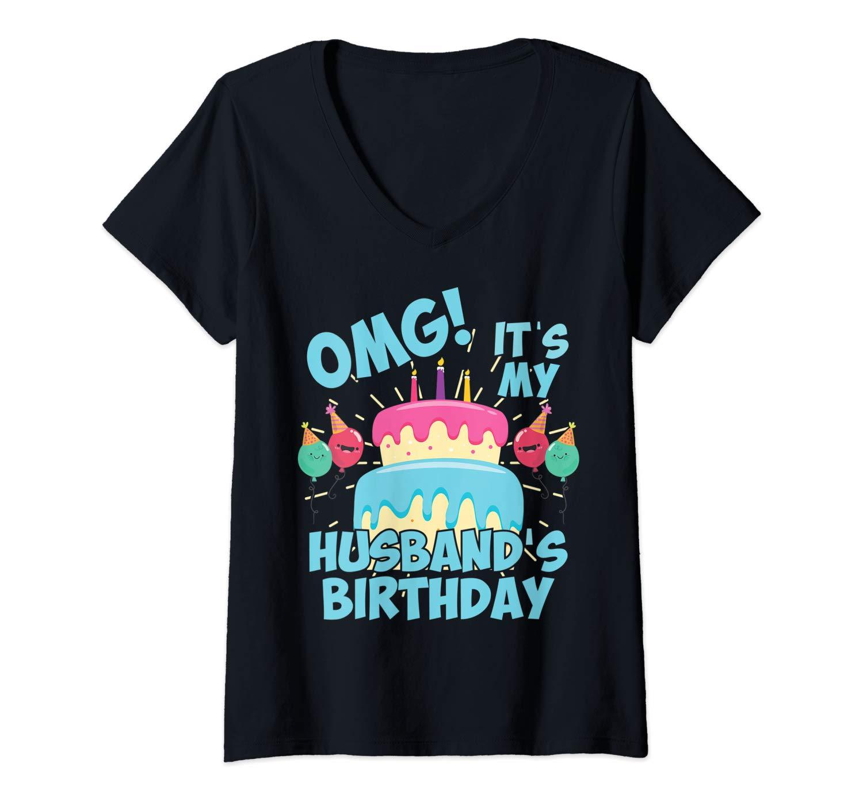 Omg Its My Husband S Birthday Party Shirt For Birthday Squad T Shirt