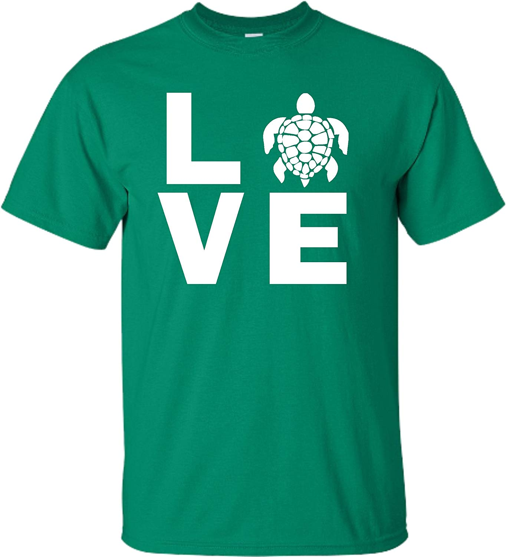 Xx Kelly Green Adult Love Turtles T Shirt