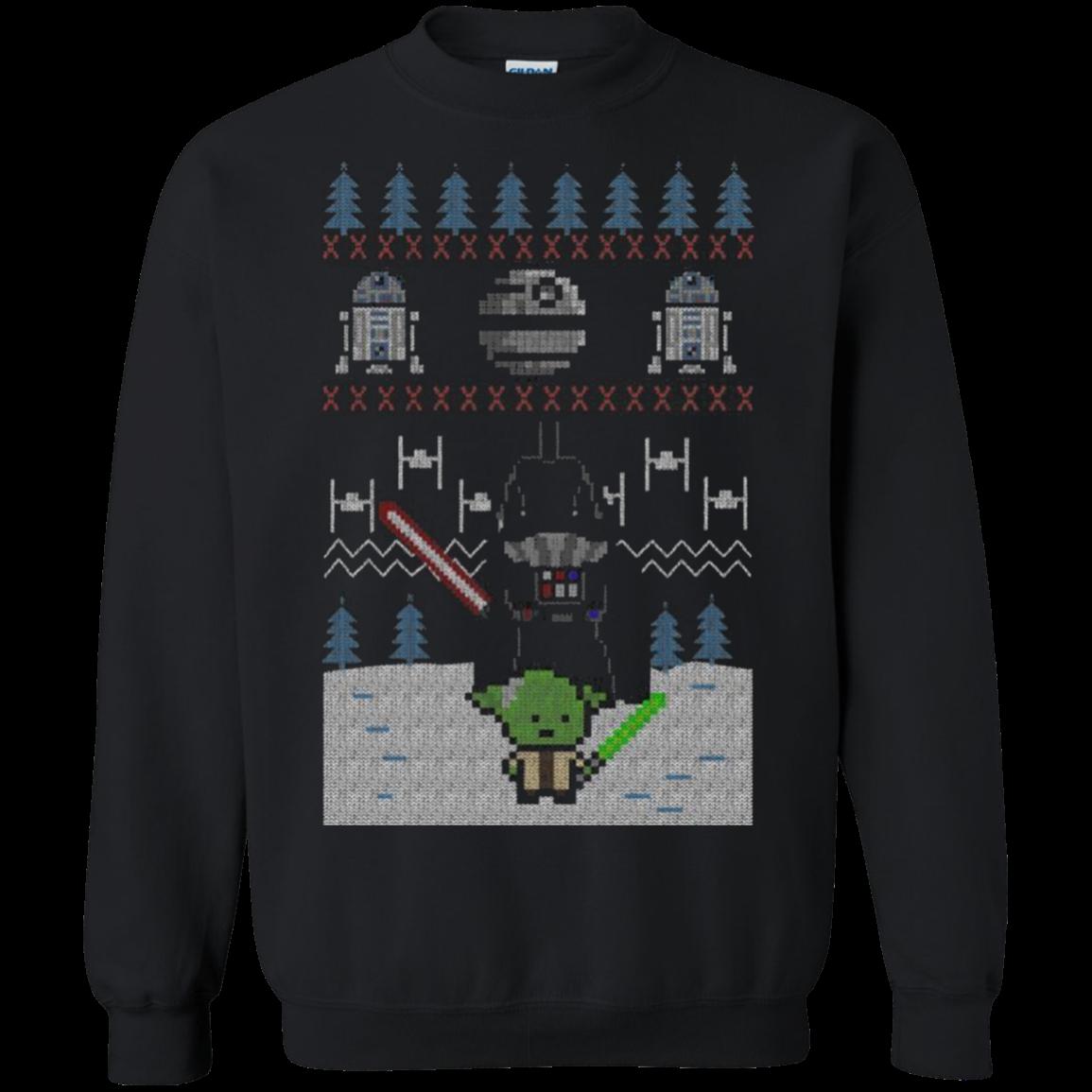 Yoda Vs Darth Vader The Fight Before Christmas Ugly Shirts