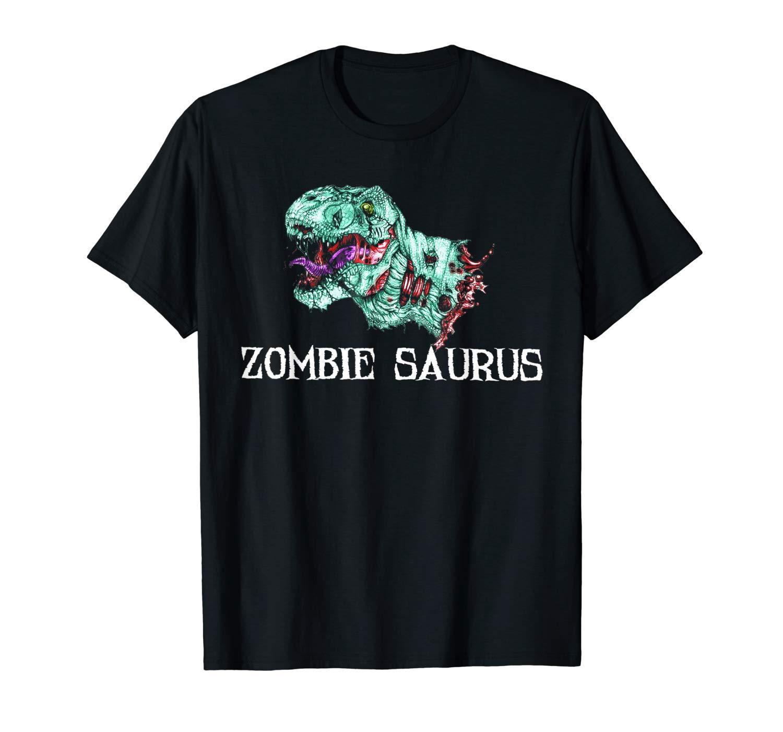 Zombie Saurus T Shirt Halloween Dinosaur T Rex Gifts