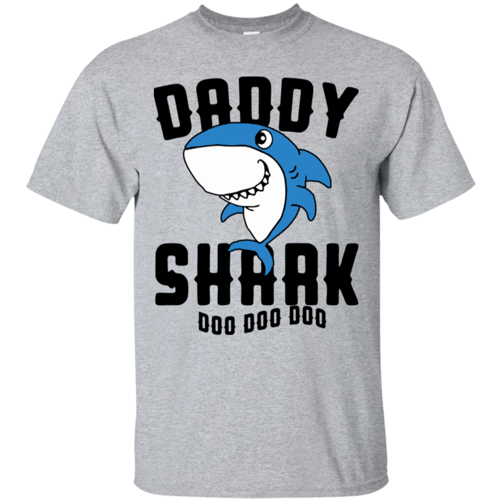 Daddy Shark Father Grandpa Halloween Christmas T Shirt